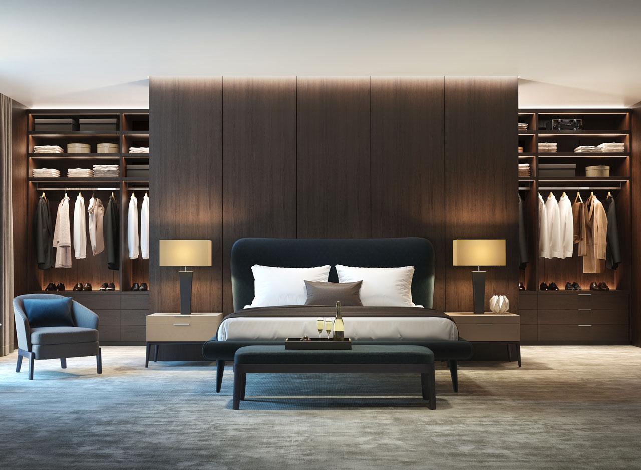 Master closet bedroom design