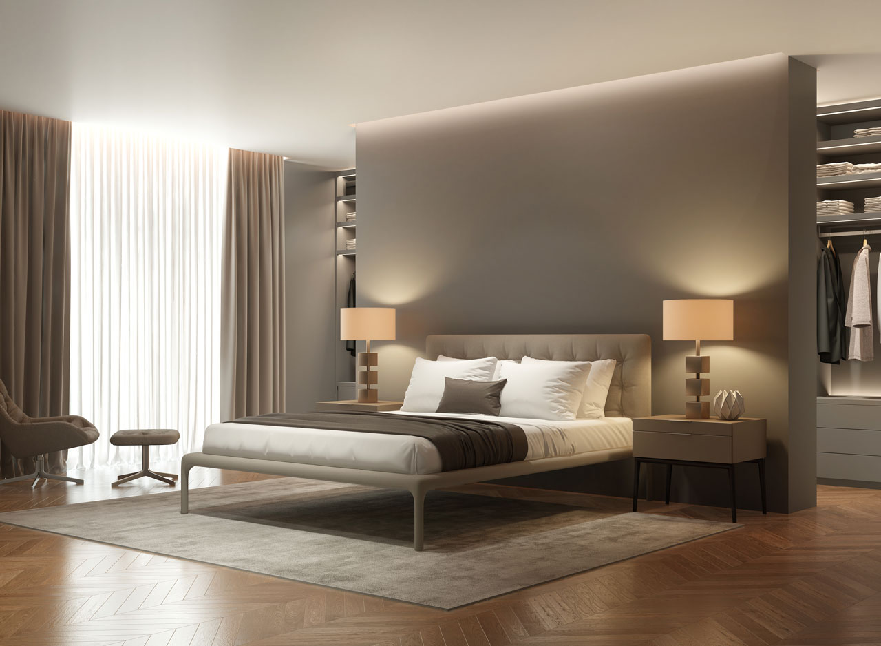 minimal style bedroom design