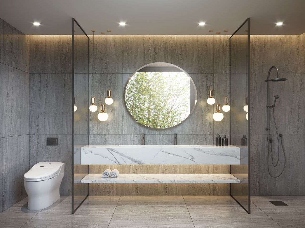 Beautiful simplistic bathroom design