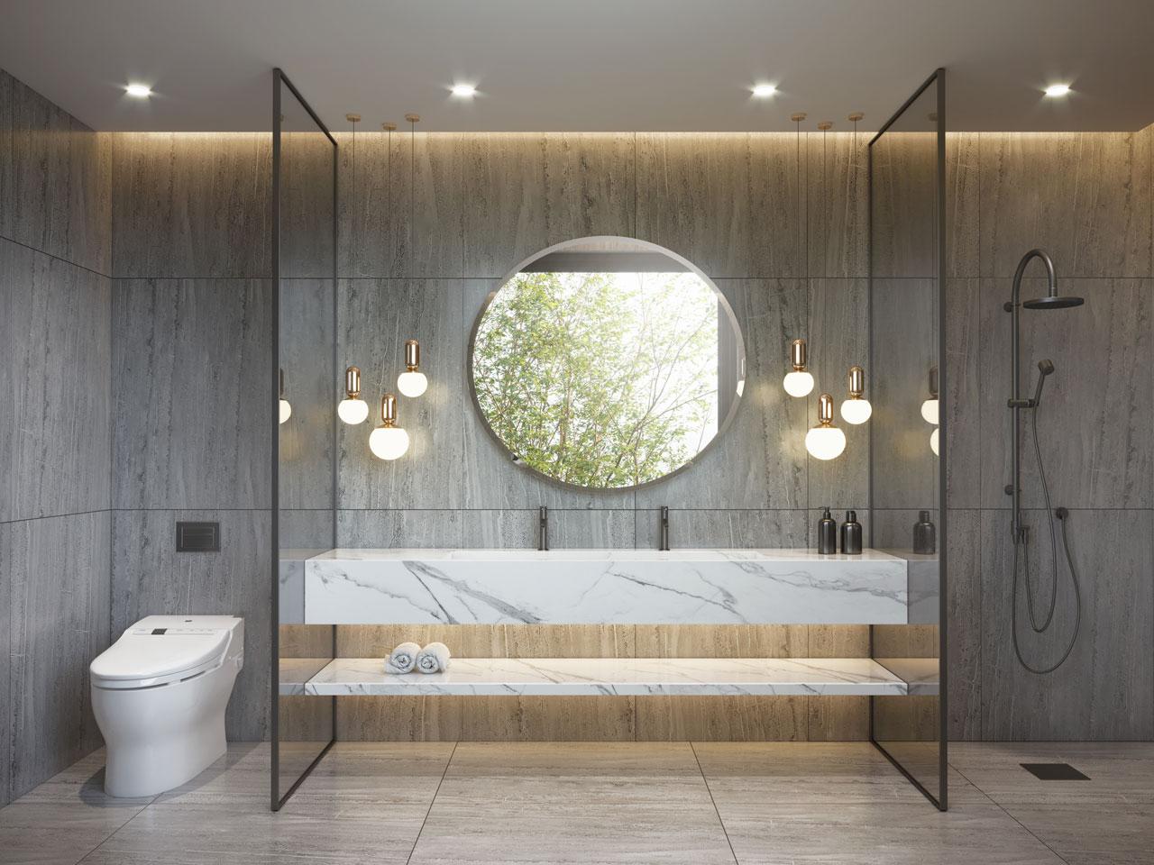Beautiful simplistic bathroom design